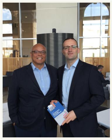 Dr. Frank und Jens Spahn im Gespräch zum Thema betriebliche Gesundheit Juni 2015